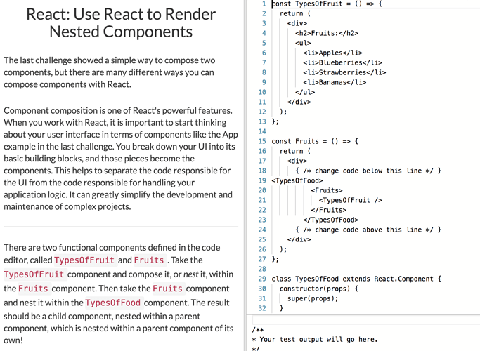 Browser freezes when I open Use React to Render Nested Components