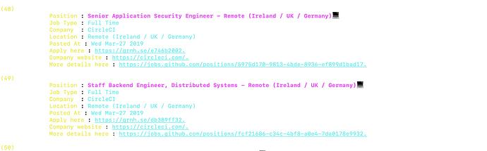 Gitjob 💻 - Github jobs at your terminal - Project Feedback - The