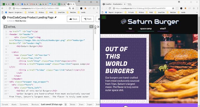 New to FCC and codepen, I have one question - The