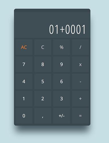 JavaScript Calculator Zero digits, Decimal, Negative