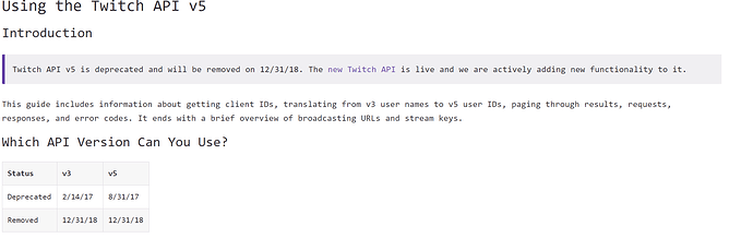 Twitch tv api v5 being removed - The freeCodeCamp Forum