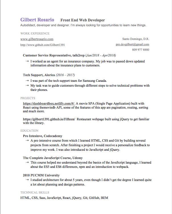 Help For My Resume And Job Searching