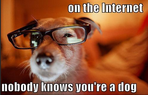 on the internet nobody knows you're a dog